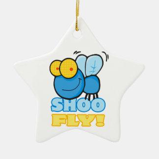 silly cute cartoon character SHOO FLY Christmas Ornament