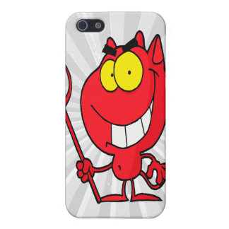 silly cute cartoon devil with pitchfork case for iPhone SE/5/5s