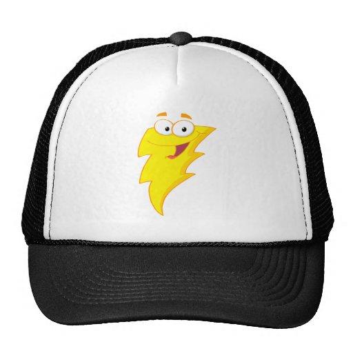silly cute cartoon lightning bolt character trucker hat