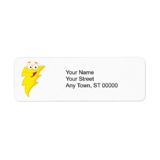 silly cute cartoon lightning bolt character label