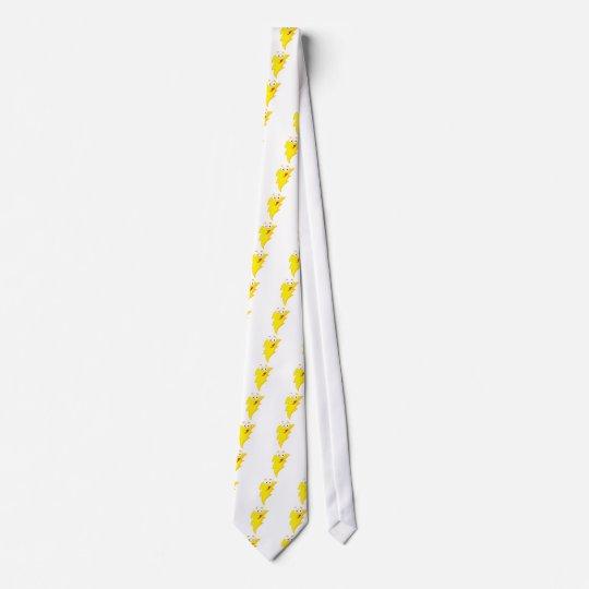 silly cute cartoon lightning bolt character tie