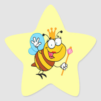 silly cute cartoon queen bee stickers