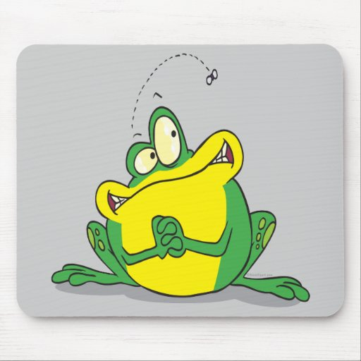 silly cute froggy patience for the fly mouse pad