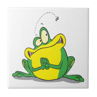 silly cute froggy patience for the flyfrog cartoon tile
