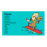 silly cute funny surfing horse surfer business card