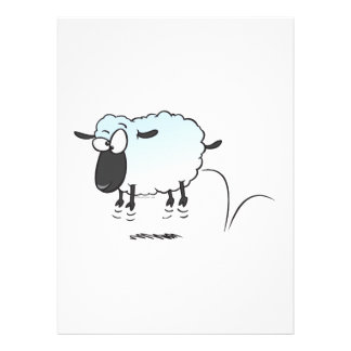 silly cute leaping lamb sheep cartoon announcements