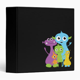 Silly Cute Monsters Binder