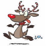 silly cute running rudolph reindeer photo cut outs