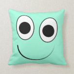 [ Thumbnail: Silly, Cute Smiling Face Throw Pillow ]