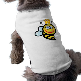 silly cute smiling queen bee cartoon pet clothes