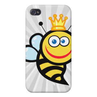 silly cute smiling queen bee cartoon iPhone 4 cover