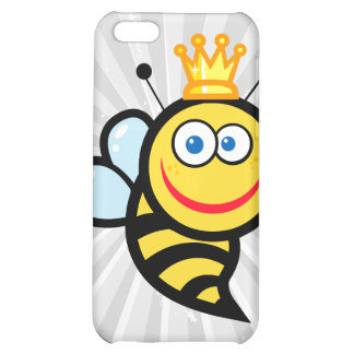 silly cute smiling queen bee cartoon iPhone 5C case