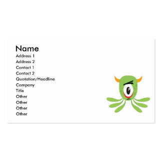 silly cyclops monster business card