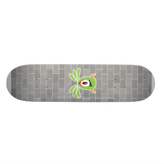 silly cyclops monster custom skateboard