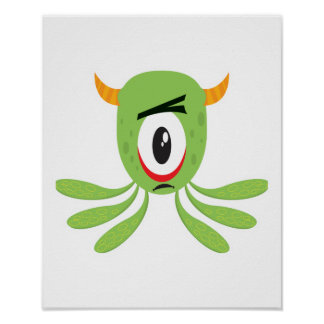 silly cyclops monster print