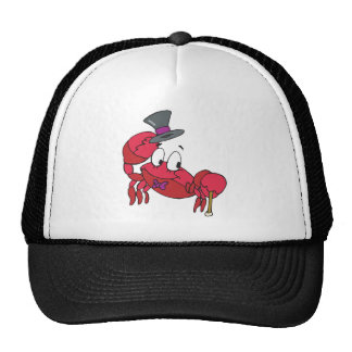 silly dancing crab mesh hats