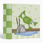 silly diving frog binder