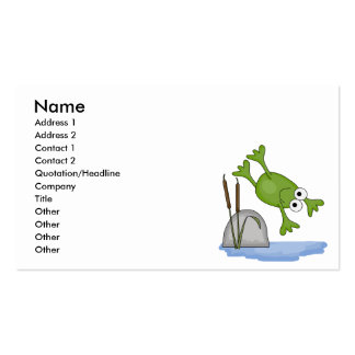 silly diving frog Double-Sided standard business cards (Pack of 100)