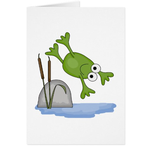 silly diving frog card