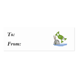 silly diving frog mini business card