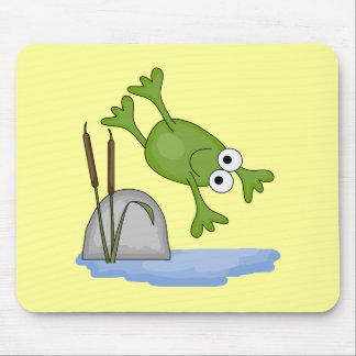 silly diving frog mouse pad