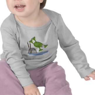silly diving frog t-shirts