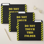 """[ Thumbnail: Silly """"Do Not Touch This Folder"""" File Folder Set ]"""