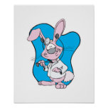 silly doctor bunny rabbit print