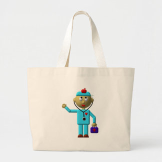Silly Doctor with Apple on his head & Medical Bag