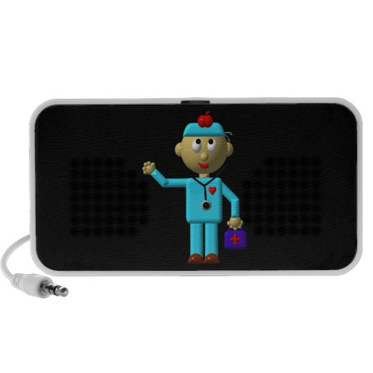 Silly Doctor with Apple on his head & Medical Bag Mini Speaker