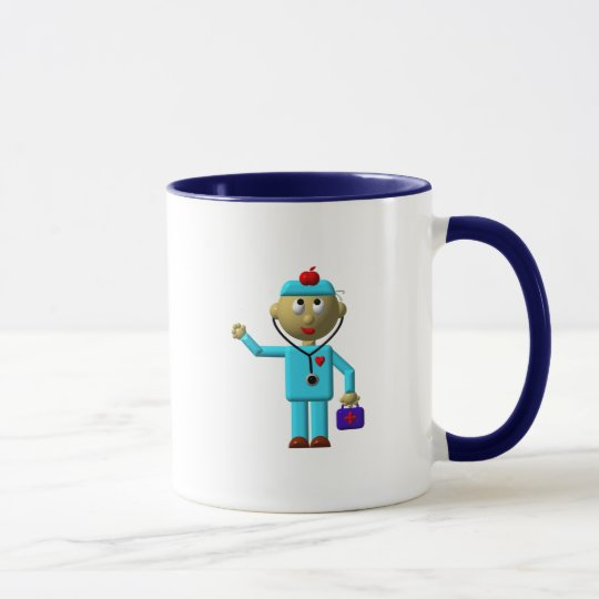 Silly Doctor with Apple on his head & Medical Bag Mug