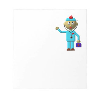 Silly Doctor with Apple on his head & Medical Bag Notepad