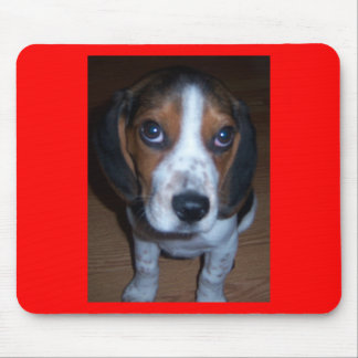 Silly Dog Randy beagle puppy Mouse Pads