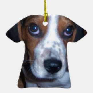 Silly Dog Randy beagle puppy Christmas Ornament