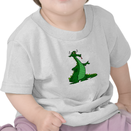 Silly Dragon Green Tees