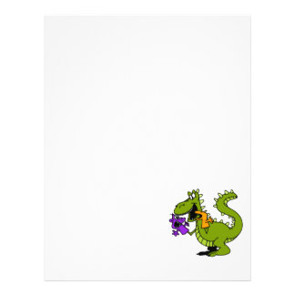 "Silly Dragon with Sock Puppets 8.5"" X 11"" Flyer"