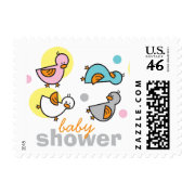 Silly Duckies Pastels Baby Shower Stamps stamp