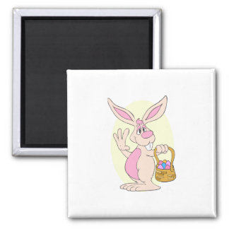 Silly Easter Bunny 2 Inch Square Magnet