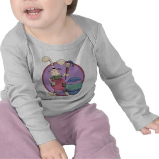 Silly Easter Bunny Painting Egg Tee Shirts