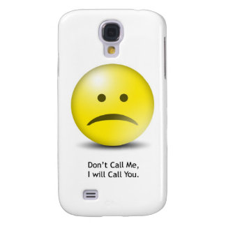 """Silly Emoticon """"Don't Call Me"""" Galaxy S4 Cover"""
