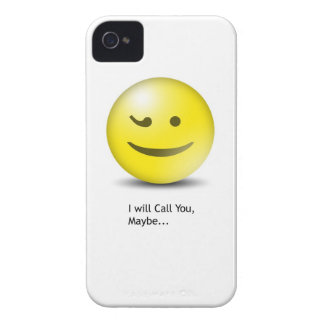 Silly Emoticon Wink I will Call You, Maybe ... iPhone 4 Case-Mate Case