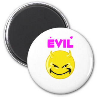 Silly Evil Devil Face 2 Inch Round Magnet