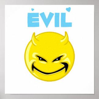 Silly Evil Devil Face Poster