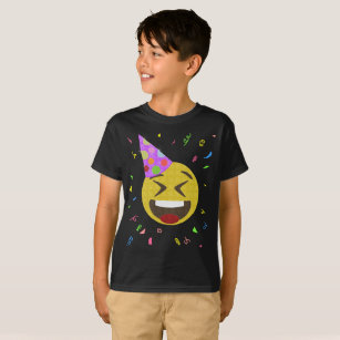 Silly Face Emoji Birthday Party Shirt