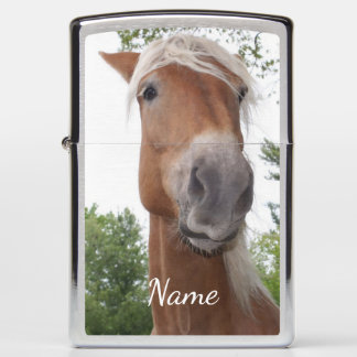 Silly Face Horse Personalized Animal Zippo Lighter