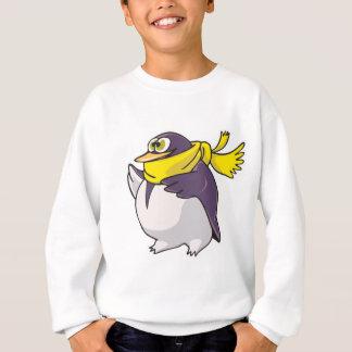 silly fat penguin wearing scarf sweatshirt