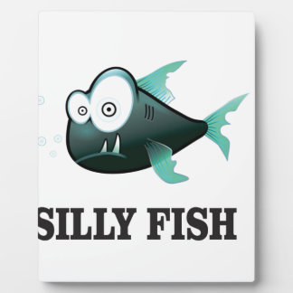 silly fish plaque