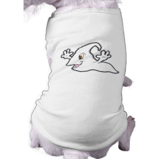 silly floating ghost doggie shirt