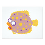 Silly Flounder Personalized Invitation