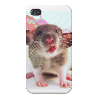 Silly Flutterby Rat Cases For iPhone 4